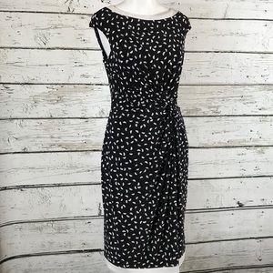 Ralph Lauren black dress with twist front 10